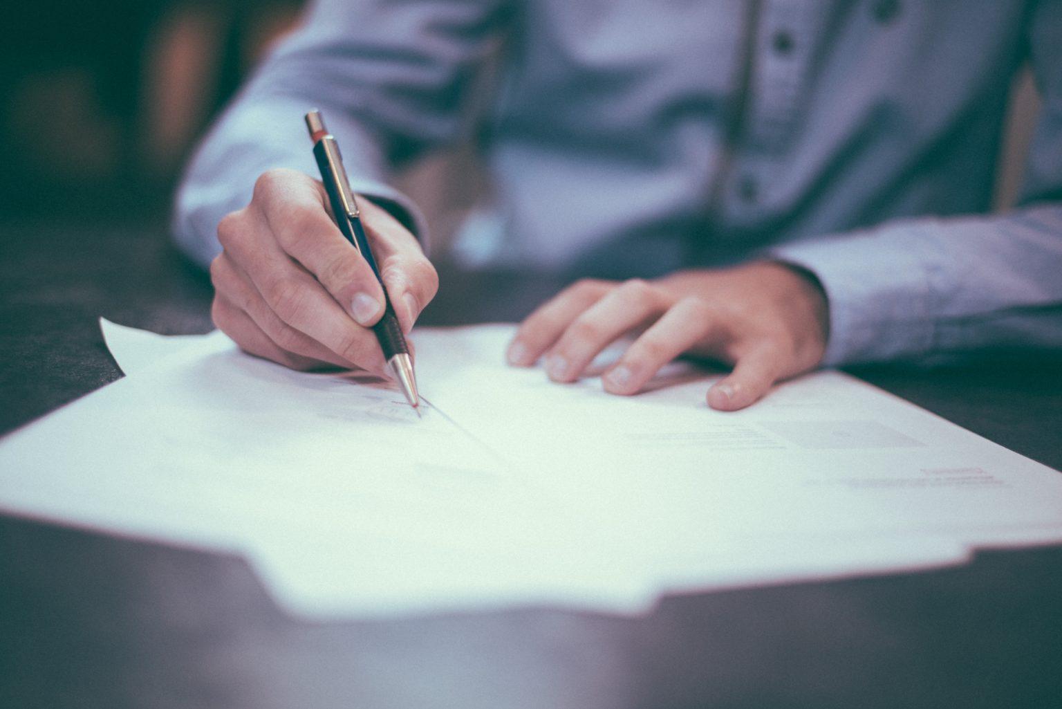 Strafverfahrensrecht/ Unterschrift des Verteidigers